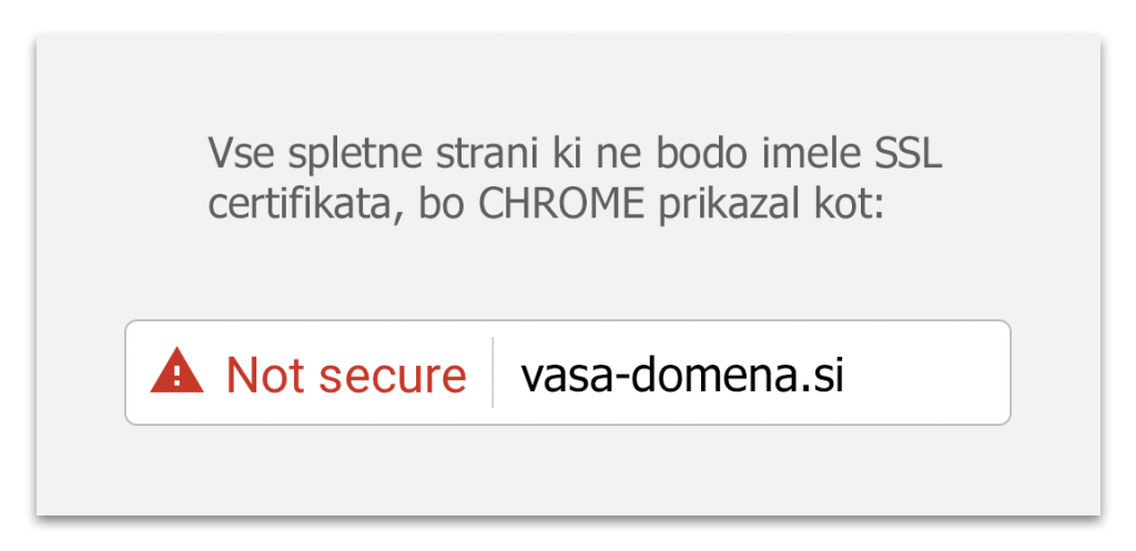 Prikaz non-secure strani